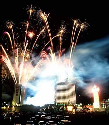 Las Vegas hotel implosion