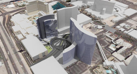 Overhead view of Project City Center, Las Vegas