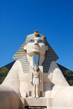 Luxor hotel, Las Vegas, showing the Luxor sphynx