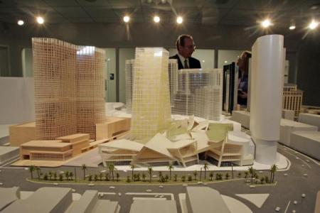 model of Project CityCenter, Las Vegas