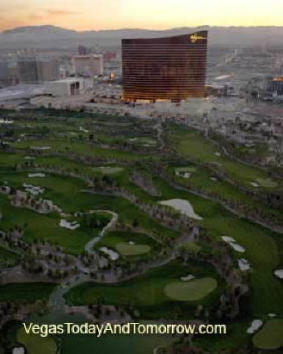 Wynn Las Vegas Hotel, with golf course set for redevelopment