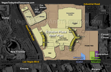 Echelon Place Las Vegas, and its position next to Circus Circus