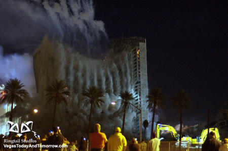stardust implosion picture - videos of the vegas stardust hotel implosion below