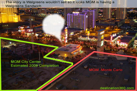 MGM Mirage Project CityCenter with Walgreens Vegas pharmacy in the middle