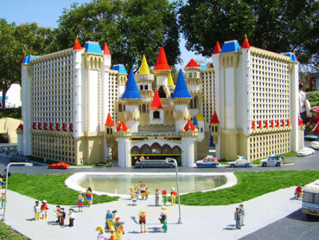 Excalibur hotel at Las Vegas Miniland courtesy of Lego