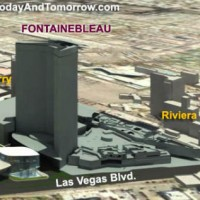 Las Vegas Fontainebleau splits the Strip in two