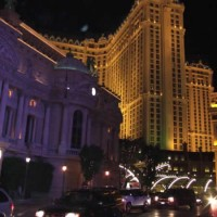 Paris Hotel in Las Vegas, Nevada, at night