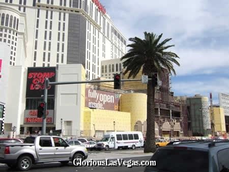 Vegas Aladdin being transformed into Vegas Planet Hollywood