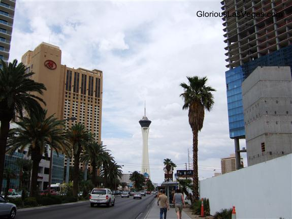 Walking up to the Stratosphere Hotel, Las Vegas